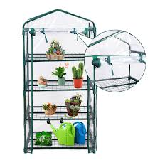 100 This Warm House Portable Mini Walk In Outdoor 4 Shelves Greenhouse