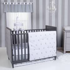 gray bunny baby bedding set