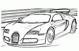 Bugatti Veyron Sports Fast Car Coloring Pages