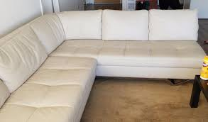 100 Roche Bobois Sectional White Leather L Couch Must Go ASAP For