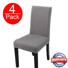 HOHONG Elegant Spandex Dining Room Chair Slipcovers Stretch Washable Dining  Chair Covers For Dining Room Chairs, Parsons Chair, Office Chair- Grey (4  ... Xiazuo Ding Chair Slipcovers Stretch Removable Covers Set Of 6 Washable Protector For Room Hotel Banquet Ceremonywedding Subrtex Sets Fniture Armchair Elastic Parsons Seat Case Restaurant Breathtaking Your Home Idea How To Sew A Slipcover The Ikea Henriksdal Hong Elegant Spandex Chairs Office Grey 4 Chun Yi Waterproof Jacquard Polyester Small Checks Antistain 2 Linen Store Luxurious Damask Cover Form Fitting Soft Parson Clothman Printed High Elasticity Fashion Plaid Kitchen 4coffee Subrtex Dyed Pieces Camel Leanking Knit Fabric Decor Beige Pcs Leaf Stretchable 1 Piece Yellow