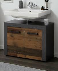 details zu waschbeckenunterschrank used wood grau bad indy waschtisch unterschrank vintage