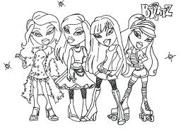 Adult Coloring Pages Jade Bratz Online Colouring Book Games Full Size