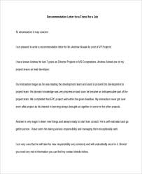 6 Sample Re mendation Letter for a Friend 8 Free Documents