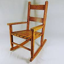 100 1960 Vintage Metal Outdoor Chairs Childs Rocking Chair Solid Wood Crafted Era EBay