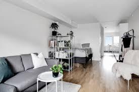 wohn schlafzimmer trennen mit buchregalen den wohnraum