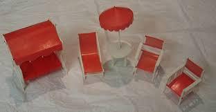 TMP011518 Toy Miniature Outdoor Furniture Set 1960s Consolidated Plastics Ltd