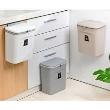 details zu 9l kunststoff mülleimer küche abfall behälter wand hängende schrank