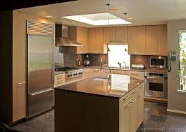 of Kitchens Modern Light Wood Kitchen Cabinets