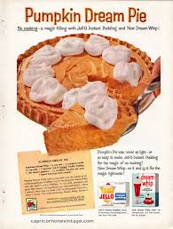 Calories In Libbys Pumpkin Roll by Vintage 1959 Jello Dream Whip Magazine Ad Pumpkin Dream Pie Recipe