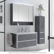 pelipal 6040 solitaire badmöbel set mit keramik waschtisch 100 cm mit regalablage