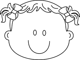 Happy Girl Face Coloring Pages