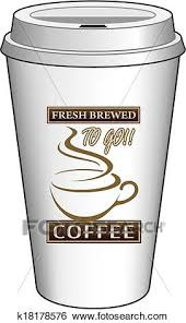 Clip Art Of Coffee To Go Cup Design Fresh Brewe K18178576
