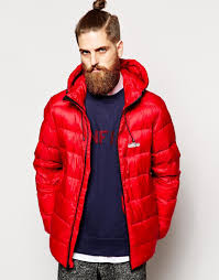 penfield chinook down packable jacket in red for men lyst