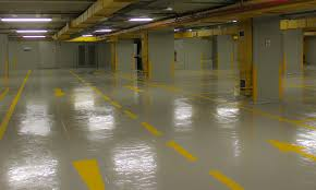 A PU Flooring In Car Park