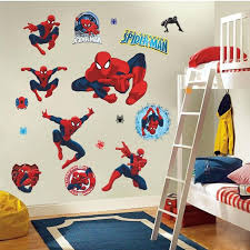 Spiderman Wall Stickers Kids Room Decor Y002 Diy Home Decals Cartoon Movie Fans Mural Cover