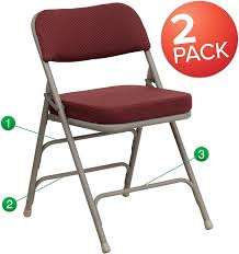 Flash Furniture 2 Pk. HERCULES Series Premium Curved Triple Braced & Double  Hinged Burgundy Fabric Metal Folding Chair Buy Amazon Brand Solimo Foldable Camping Chair With Flash Fniture 4 Pk Hercules Series 1000 Lb Capacity White Resin Folding Vinyl Padded Seat 4lel1whitegg Amazonbasics Outdoor Patio Rocking Beige Wonderplast Ezee Easy Back Relax Portable Indoor Whitebrown Chairs Target Gci Roadtrip Rocker Quik Arm Rest Cup Holder And Carrying Storage Bag Amazoncom Regalo My Booster Activity High Comfort Padding Director Alinum Mylite Flex One Black 4pack Colibroxportable Fishing Ezyoutdoor Walkstool Compact Stool 13 Of The Best Beach You Can Get On