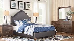 Alpine Lake Cherry 5 Pc Queen Upholstered Bedroom