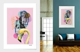 Art Design Curioos Artist Flamingo Wall Decor Home Dorm Print