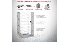 Durock Tile Membrane Kit by Usg And Infinity Drain Partnership Introduces Smart Shower System