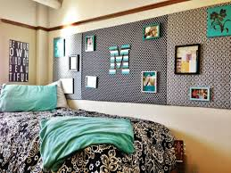Nice Dorm Room Decorating Ideas With Decorative Bedding Plus Peel And Steak Wallpaper Also Smooth Pillows
