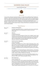 Photographer Resume Example Freelance Samples Visualcv Template