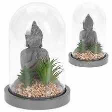 details zu buddha deko buddah figur statue figuren kunstpflanze steingrau badezimmer modern