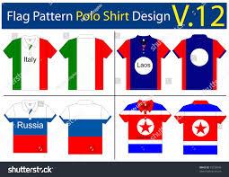 flag polo shirt designs international vector stock vector 75726949