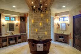Farmhouse Style Master Bathroom With Iron Fixtures