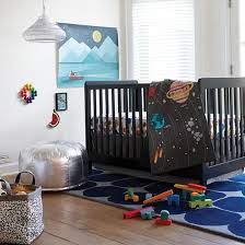deep space crib bedding the land of nod baby products clothes