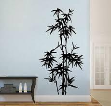 details zu wandaufkleber bambus strauch stamm asien china bad wohnzimmer flur wandtattoo