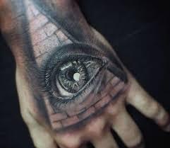 Egyptian Tattoo Eye Pyramid Hand Design For Men