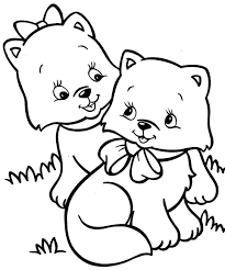 Christmas Kitten Coloring Pages Cute With Newborn S Youtufcom