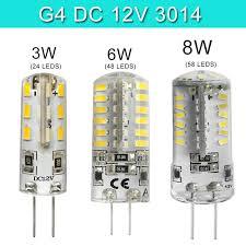 10x g4 led l led bulb 12v 3w 6w 8w led capsule bulb replace