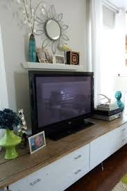 Shelf Above Tv To Hide Cords Like Wooden Top White Drawers