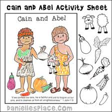 Cain And Abel Activity Coloring Sheet Printable