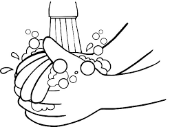 Kid Want To Washing Hand Coloring Pages Sun