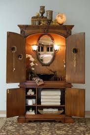 Antique Bathroom Vanity Double Sink by Antique Bathroom Vanity With Black Marble Vessel Sink And Linen