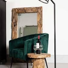 design spiegel mit wurzelholz rahmen sofia