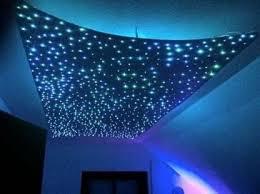 sternenhimmel led set beleuchtung funky in glasfaser optik 200 lichtfasern 0 75 mm inkl projektor fernbedienung memory funktion