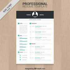 Professional Resume Template Free Vector