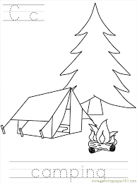 Camping Color Pages Az Coloring
