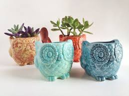 Owl Planter Home Decor Ceramics And Pottery By PotteryLodge