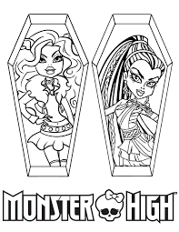 Monster High Clawdeen Wolf And Nefera De Nile Coloring Page