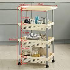 fbt02 frg58 w einkaufswagen lagerung 4 etagen regal küche bad mit rollen unterschrank auf rollen