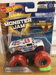 Image Is Loading Monster Jam ICE CREAM MAN Clear Crushers NEW