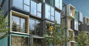 100 Sea Container Houses Striking Apartment Complex Is Made Of 48 Raw Shipping Containers