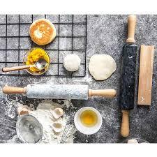 rolling pin mit marmor roller massivholz basis home küche utensilien backen werkzeug holz griffe cradle grau schwarz weiß