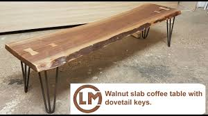 how to make a live edge walnut coffee table with buterfly
