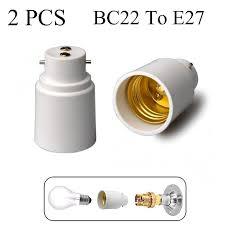 b22 to e27 l light bulb base socket converter adaptor